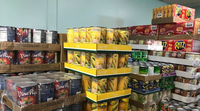 The FISH food pantry stock